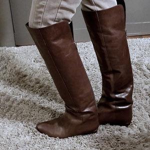 Loeffler Randall Riley OTK Cognac Leather Boot